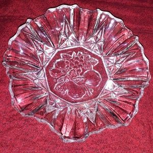 Other - Fruit Pattern Clear Glass Candy Dish